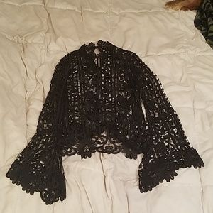 Lace see-through long sleeve